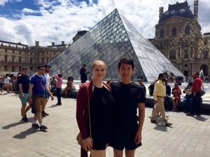 Class of 2020 students, Emma and William, made time this summer to explore the many works at the Louvre in France.