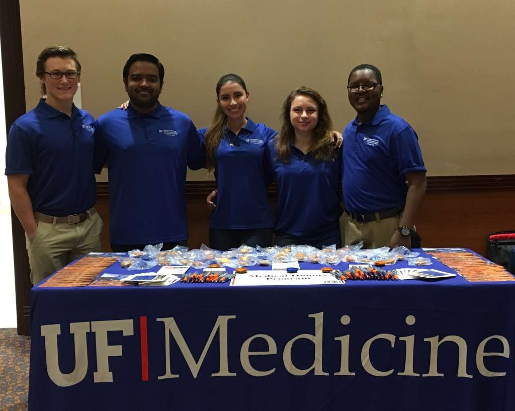 5 MHP students with Medicine table